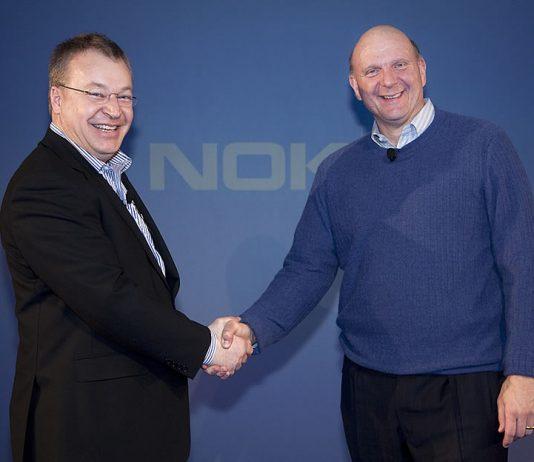 Stephen Elop, Presidente y CEO de Nokia con Steve Ballmer, CEO de Microsoft / Foto: Archivo