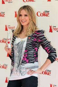 Heidi Klum y Diet Coke