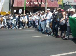 Jorge Sicilia caminó por Eje Central en la última fase de su Marcha por la Paz