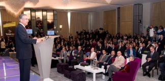 El presidente del Grupo Salinas, Ricardo Salinas Pliego, en el lanzamiento de Totalplay