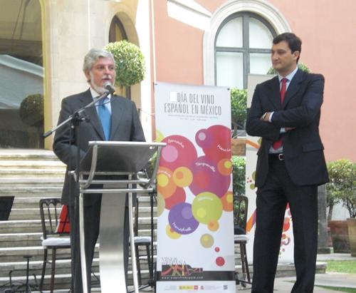 Emb Esp en Mex Manuel Alabart y consejero Eco y Comer Fco Javier Garzon