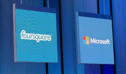 Microsoft y Foursquare