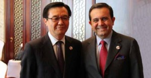 Ministro de Comercio de China Gao Hucheng e secretario de Economia Ildefonso Guajardo