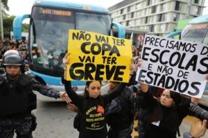 Protestas Mundial de Futbol Brasil