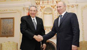 Raul Castro Cuba y Vladimir Putin Rusia