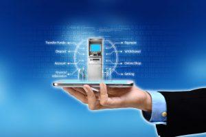 33530030 - visualization of mobile or internet based banking concept
